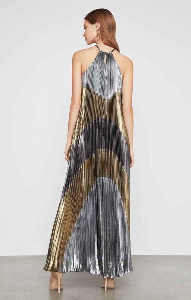 Vestido-Plisado-Con-Bloques-De-Color-Metalizado-OJZ60P54_S0P_a